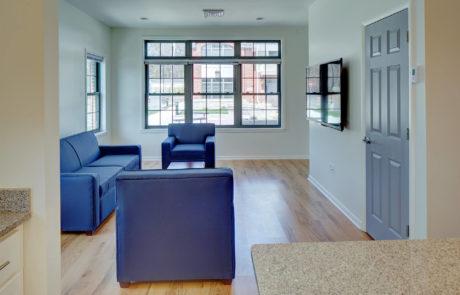 Kean University Faculty Housing Living Room