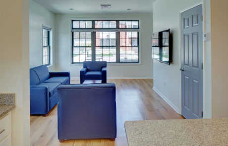 Kean University Faculty Housing Living Room