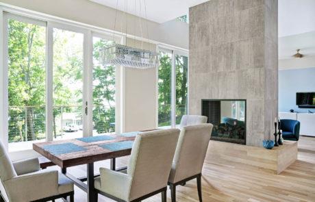 Custom Modern Home Dining Area